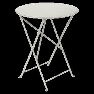 Table pliante Bistro ?60 cm - Fermob - Métal - Gris argile