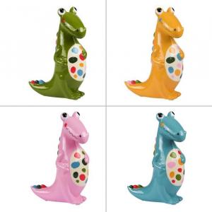 Tirelire dinosaure - Plusieurs couleurs- 18 cm