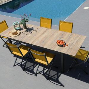 Table Tahaa 180/240 HPL - Graphite/Bois- Proloisrs