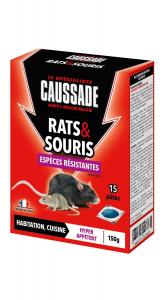 Pâte appât espèces résistantes souriset rats - 150 g - Caussade