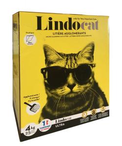Litière agglomérante parfumée Lindocat - 4 kg