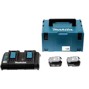 Pack 2 batteries 18 V et chargeur- Makita