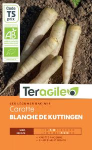 Carotte blanche de kuttingen bio - 2.5g- Teragile