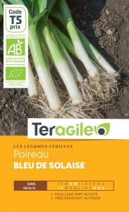 Poireau bleu de solaide bio - 2.5g - Teragile