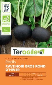 Radis rave noir gros rond d'hiver bio -8.5g - Teragile