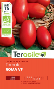 Tomate roma vf bio - 0.3g - Teragile