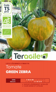 Tomate green zebra bio - 0.3g - Teragile