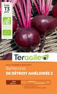Betterave de détroit améliorée 2 bio - 3.5g - Teragile