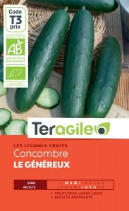 Concombre le généreux bio - 1g - Teragile