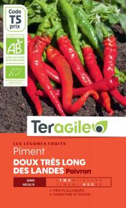 Piment doux très long des landes bio - 0.4g - Teragile