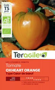 Tomate oxheart orange bio - 0.3g - Teragile