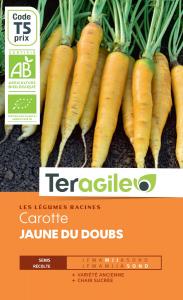 Carotte jaune du doubs bio - 2.5g - Teragile