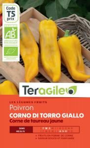 Poivron corno di torro giallo bio - 0.4g - Teragile