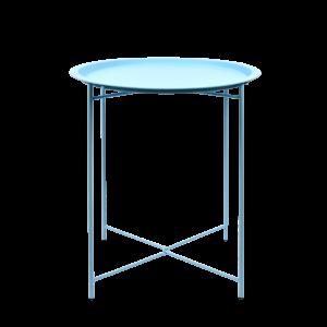 Table d'appoint bleue Ø46 cm