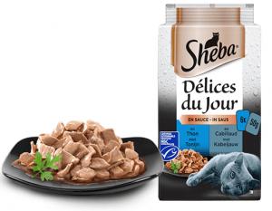 Repas en sauce Thon Cabillaud - Sheba - 6x50g