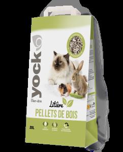 Litière végétale pellets de bois - Yock- 20 litres