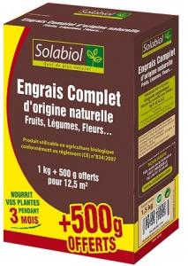 ENGRAIS COMPLET 1KG + 500 - SOLABIOL