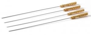 4 brochettes manche bois FSC - Barbecook - 43 cm
