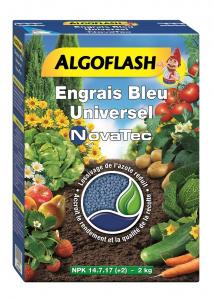 Engrais bleu Novatec - Algoflash - Boîte 2 kg