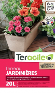 Terreau jardinières UAB Teragile BIOLANDES PIN DECOR - 20 L