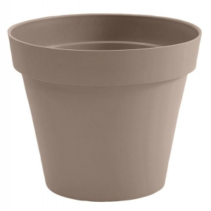 Pot - Toscane - Rond -  10 L - Taupe