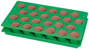 Plaque de semis avec 24 pots - Romberg & co - 50 x 30 cm