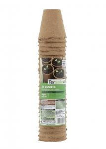 Godets ronds biodégradables - Teragile - Ø 6 - Lot de 24 pots