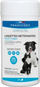 Lingettes nettoyantes multi-usages - Francodex - Pour chiens et chats - Boite de 100 lingettes