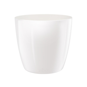 Cache-pot Brussels Diamond Round - Elho - Blanc - 18 cm