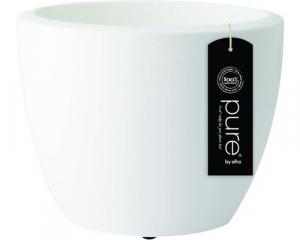 Pot Pure Soft Round Wheels  - Elho - blanc - 50 cm
