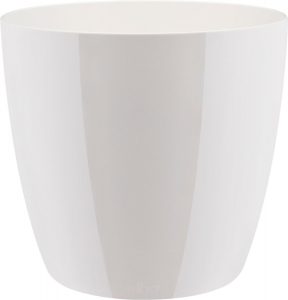 Cache-pot Brussels Diamond Round - Elho - blanc - 22 cm