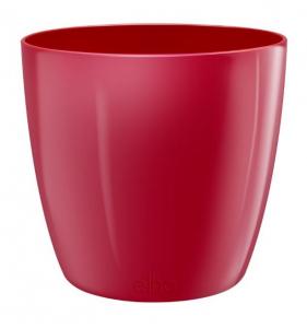 Pot Brussels Diamond Rond - Elho - 22 cm - Rouge charmant