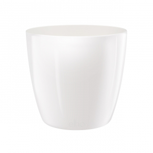 Cache-pot Brussels Diamond Round - Elho - blanc - 14 cm