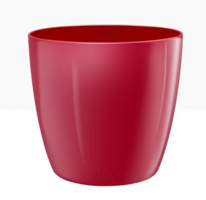 Cache-pot Brussels Diamond Round - Elho - Lovely rouge - 16 cm