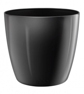 Pot Brussels Diamond Rond - Elho - 18 cm - Noir métal