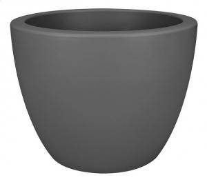 Pot Pure Soft Round Wheels - Elho - gris anthracite - 40 cm