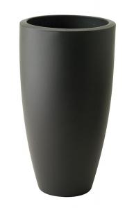 Pot Pure Soft Round High - Elho - gris anthracite - 35 cm