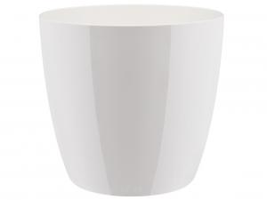 Cache-pot Brussels Diamond Round - Elho - blanc - 16 cm