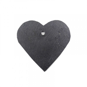 Etiquette coeur en ardoise - Comptoir Botanique - 9 x 9 cm