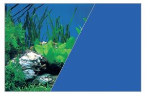 Poster fond décor découpé Roche/bleu 80 x 50 cm - Zolux