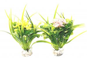 Décor fleur large - En plastique