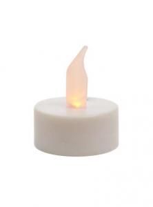 Bougie chauffe plat - LED -  Ø 3,8 cm  - sur pile - lot de 2