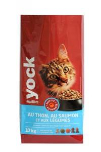 Croquettes Yock Equilibre pour chat - Thon, saumon et légumes - 10 kg