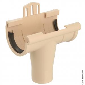 Naissance à joint pour gouttière développé de 16 - GIRPI - PVC - Sable