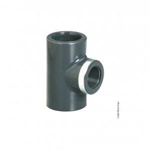 Té réduit taraudé 90° - GIRPI - PVC - Ø 32 mm - Taraudage 1