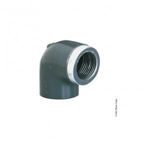 Coude taraudé 90° - GIRPI - PVC - Femelle-Femelle - Ø 32 mm - Taraudage 1