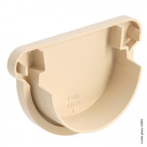 Fond unique de gouttière développé de 16 - GIRPI - PVC - Sable