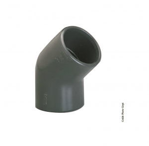 Coude simple 45° - GIRPI - PVC - Femelle-Femelle - Ø 20 mm - Lot de 2