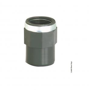 Manchon taraudé - GIRPI - PVC - Mâle-Femelle - Ø 25-32 mm - Taraudage 3-4 - Lot de 2