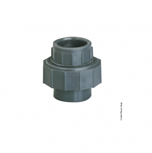 Union 3 pièces - GIRPI - PVC - Femelle-Femelle - Ø 50 mm